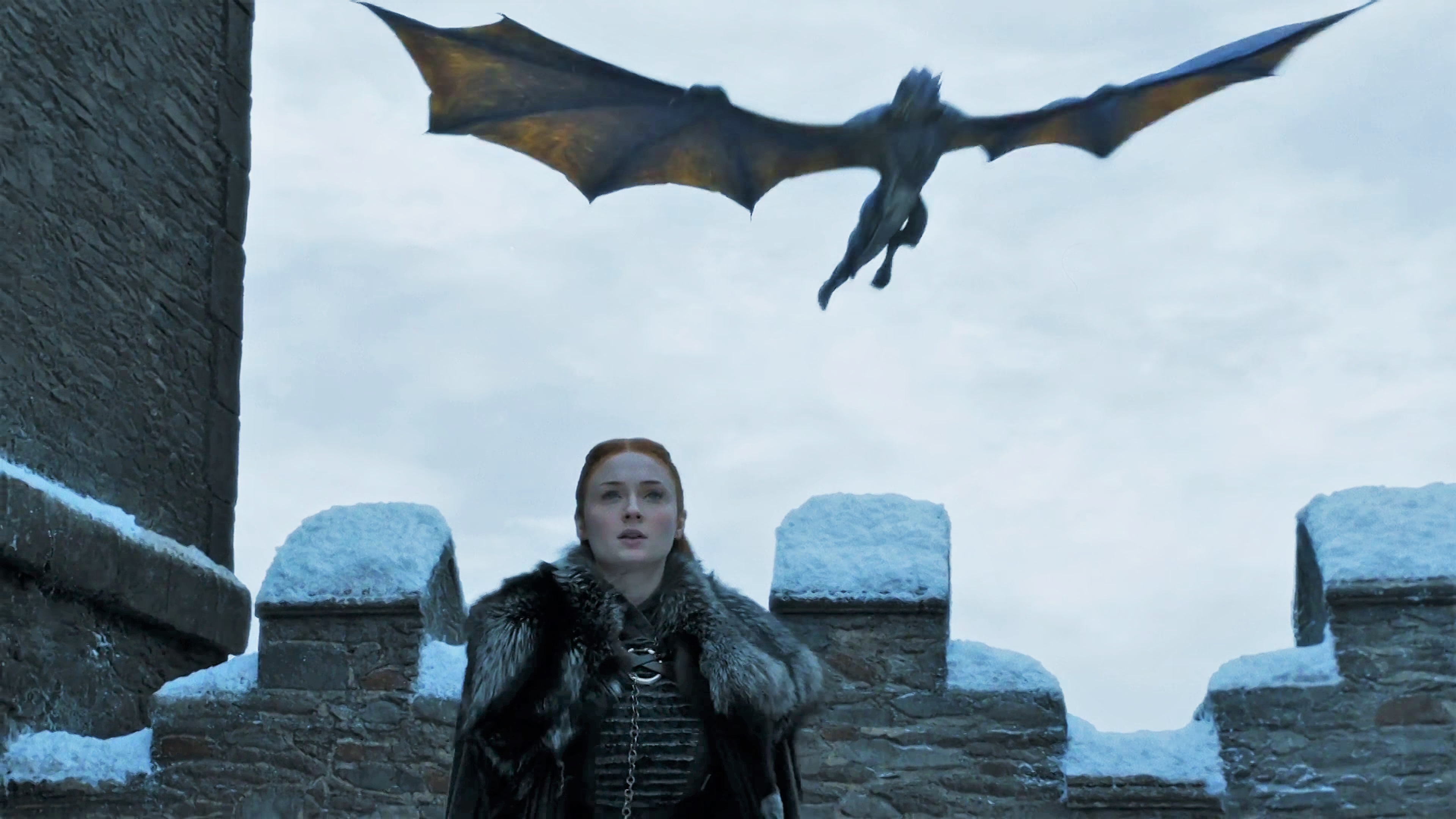 14. Season 8 Trailer Sansa Stark Winterfell Drogon Viserion