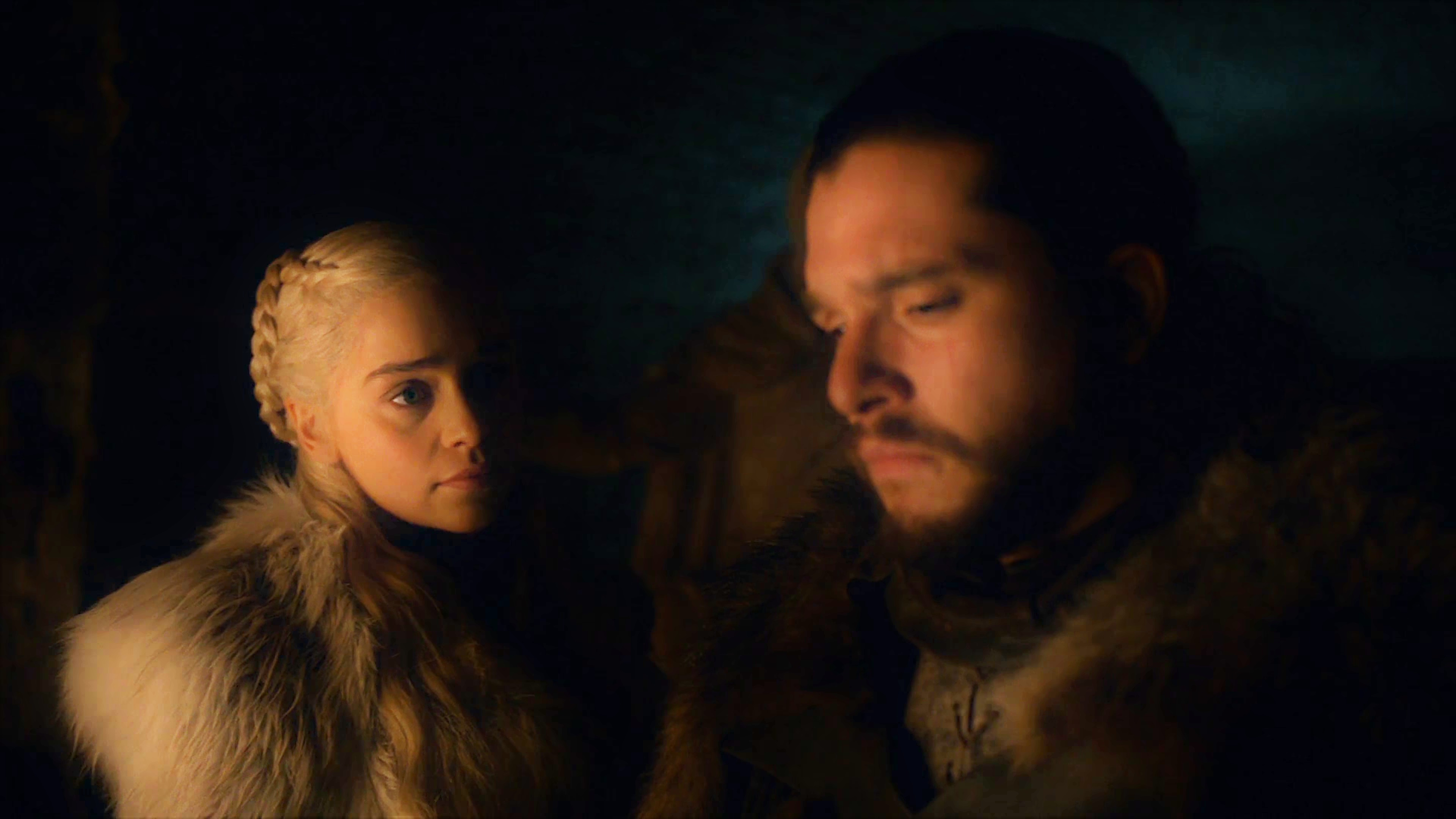 17. Season 8 Trailer Crypts Winterfell Daenerys Targaryen Jon Snow 2