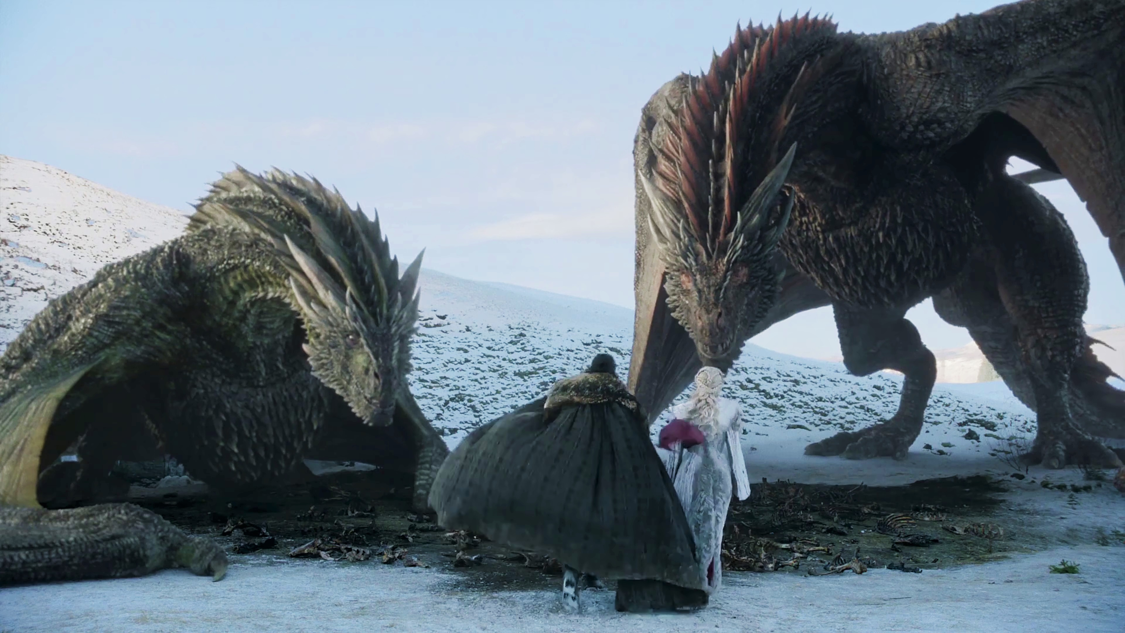 39. Season 8 Trailer Jon Snow Daenerys Targaryen Drogon Viserion 2