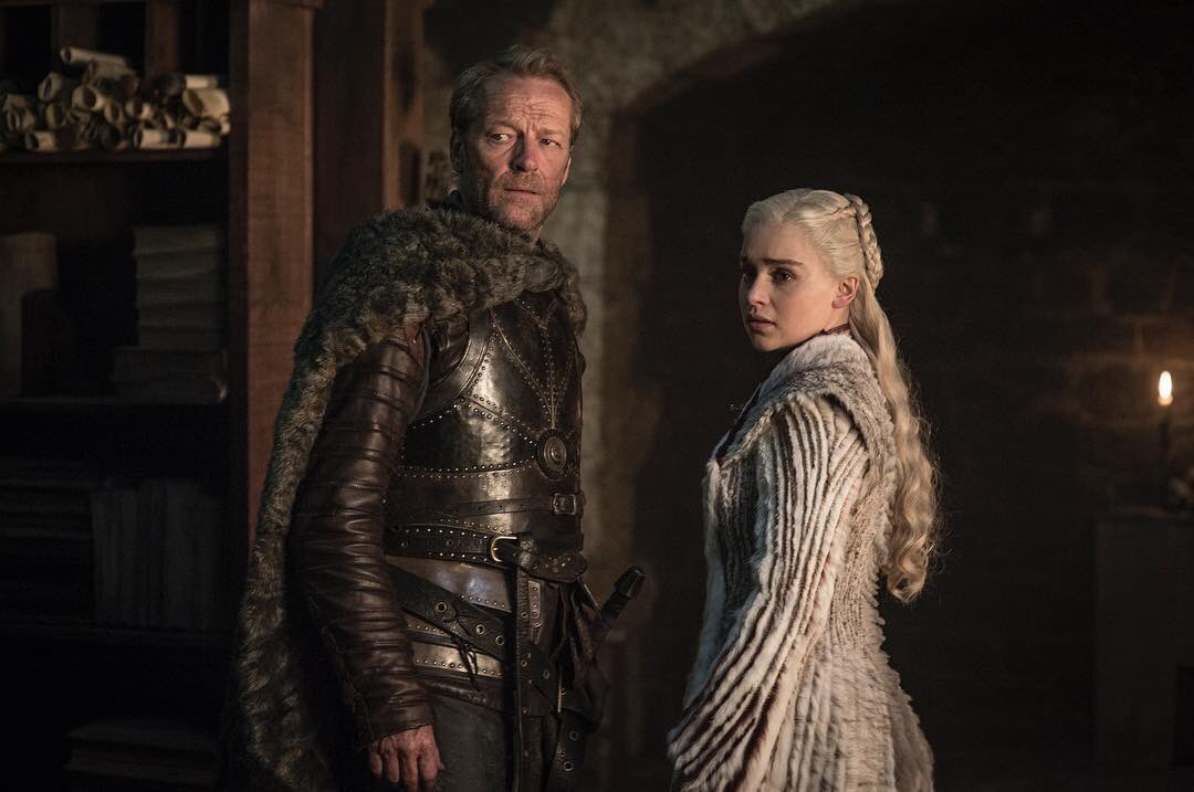Jorah Mormont (Iain Glen) and Daenerys Targaryen (Emilia Clarke). Photo: HBO