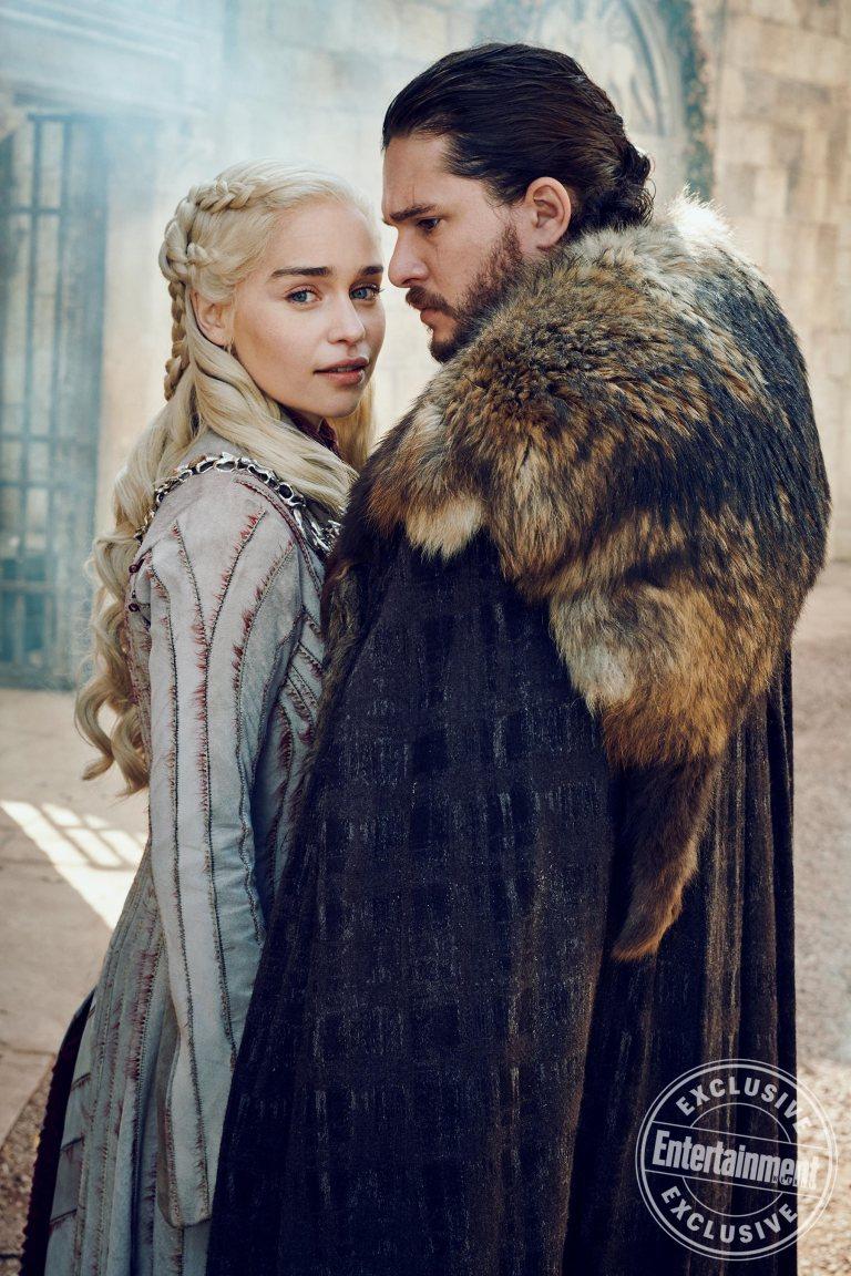 Emilia Clarke Kit Harington Daenerys Targaryen Jon Snow Game of Thrones