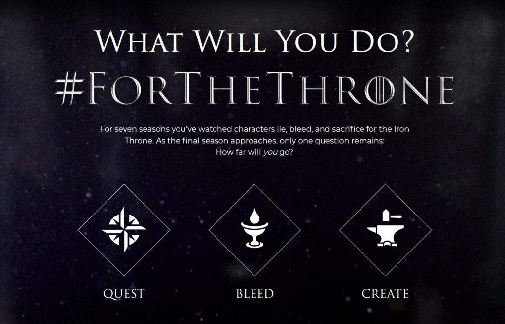 """The 'Quest' portion of """"#ForTheThrone came to an end this morning with the discovery of the sixth and final Iron Throne."""