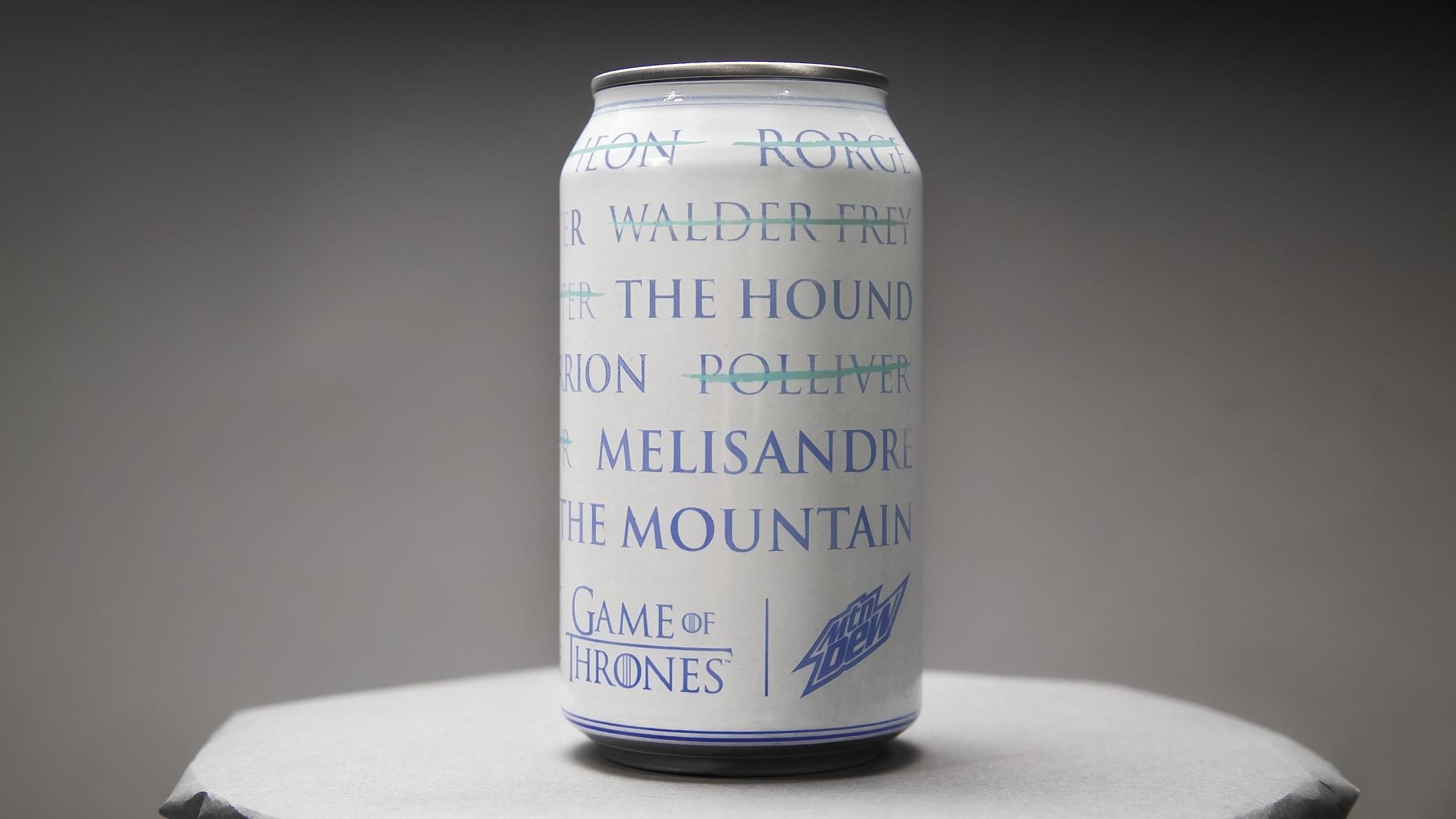 Mountain Dew For The Throne Can Season 8 Arya List