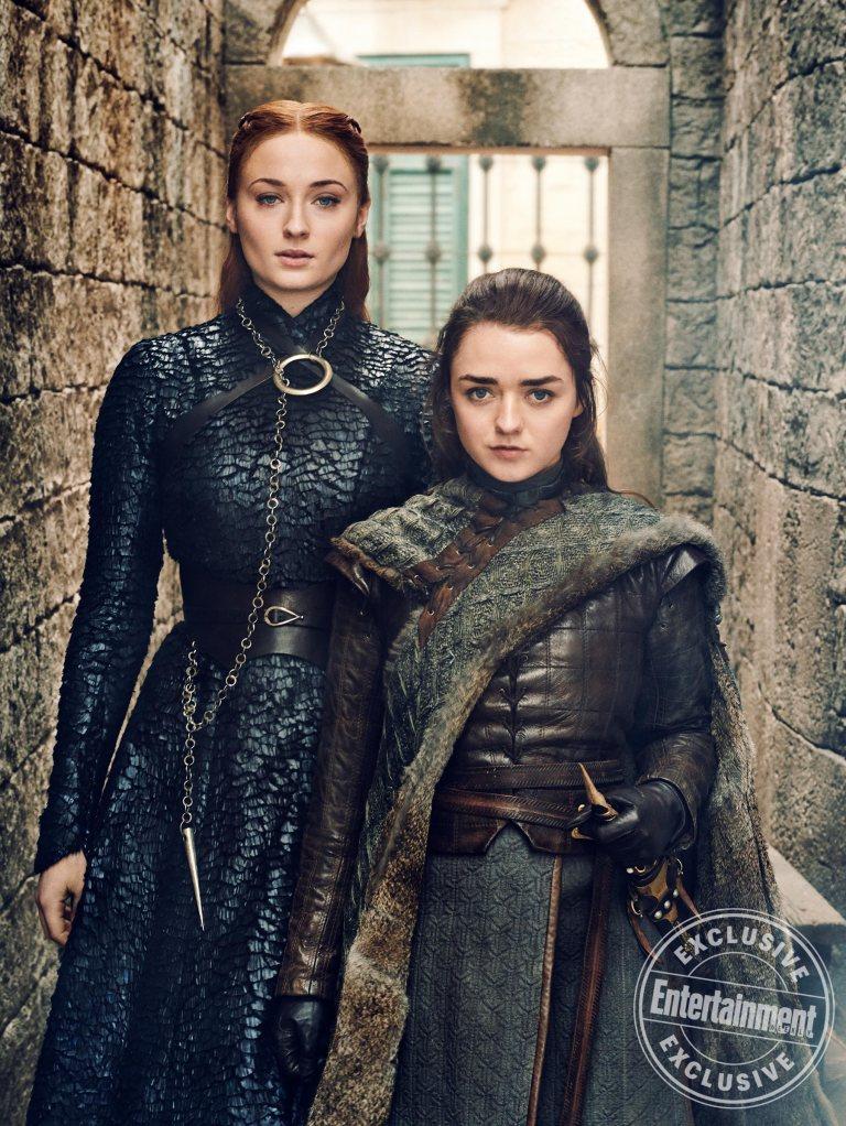 Sophie Turner Maisie Williams Sansa Stark Arya Stark Game of Thrones
