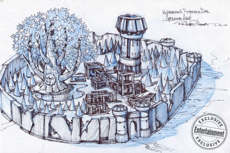 Game of Thrones Title Sequence Winterfell/Godswood Concept Art