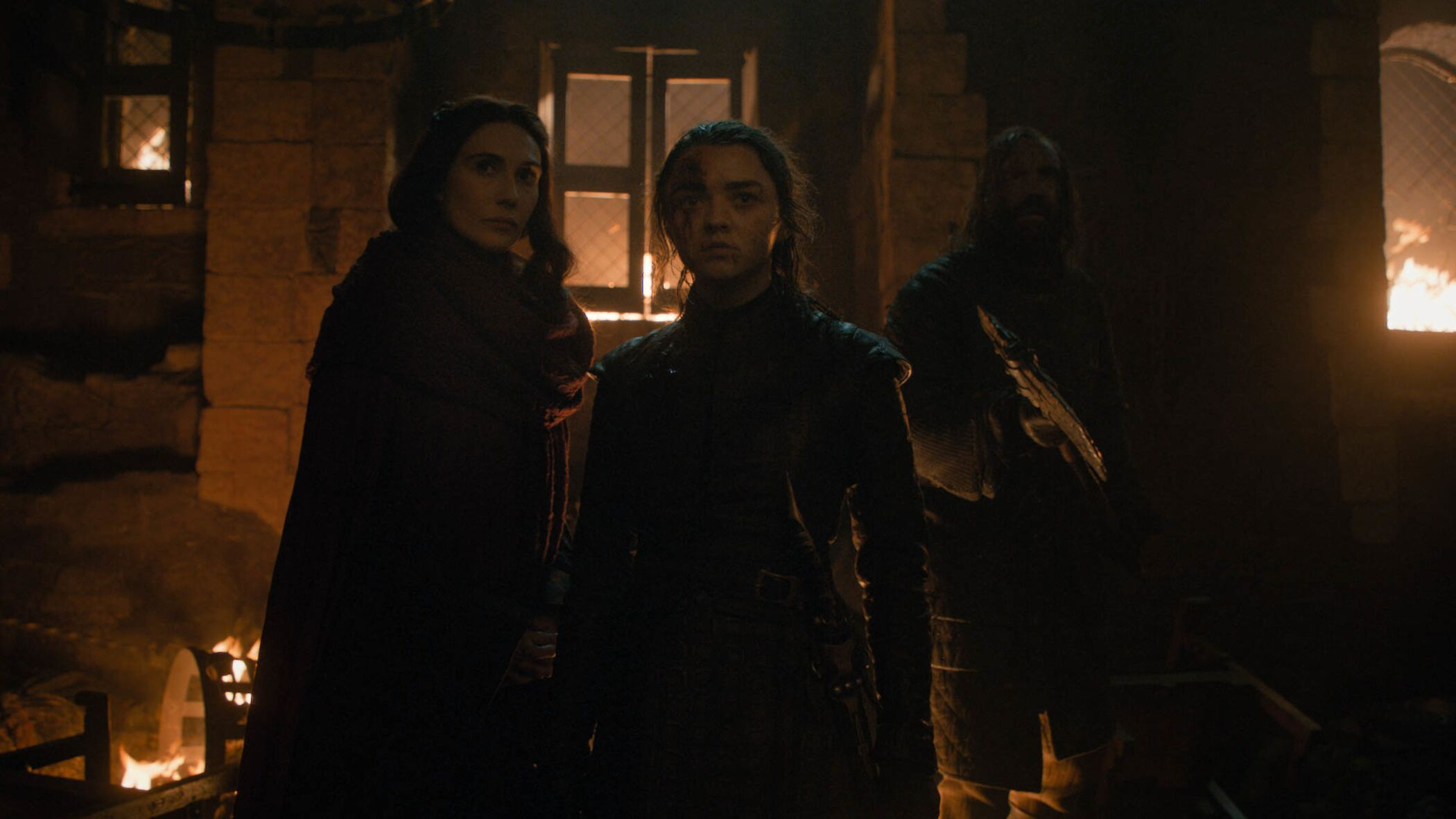Arya Melisandre and the Hound The Long Night