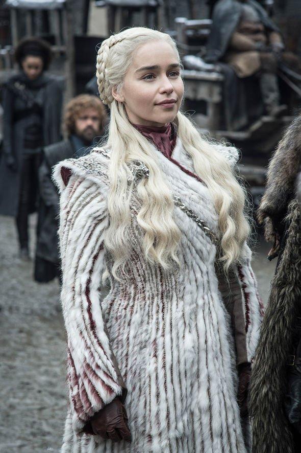 Daenerys Targaryen (Emilia Clarke), Tyrion Lannister (Peter Dinkalge), Nathalie Emmanuel (Missandei). Photo: HBO, via Express.