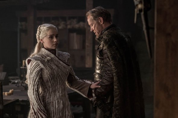 Daenerys Targaryen (Emilia Clarke), Jorah Mormont (Iain Glen). Photo: HBO, via Express.