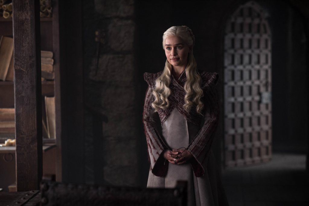 Emilia Clarke as Daenerys. Photo: Helen Sloan / HBO