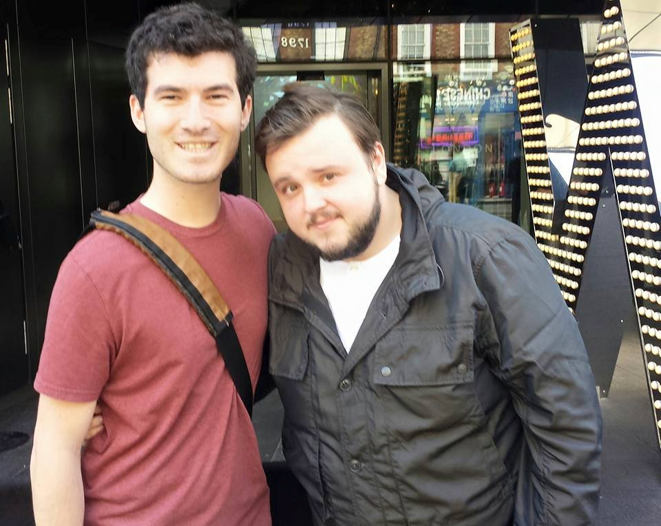That time I jokingly went to London to 'run into GOT celebrities' and accidentally ran into John Bradley, aka Samwell Tarly.