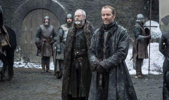 Davos Seaworth (Lian Cunningham), Jorah Mormont (Iain Glen). Photo: HBO, via Express.