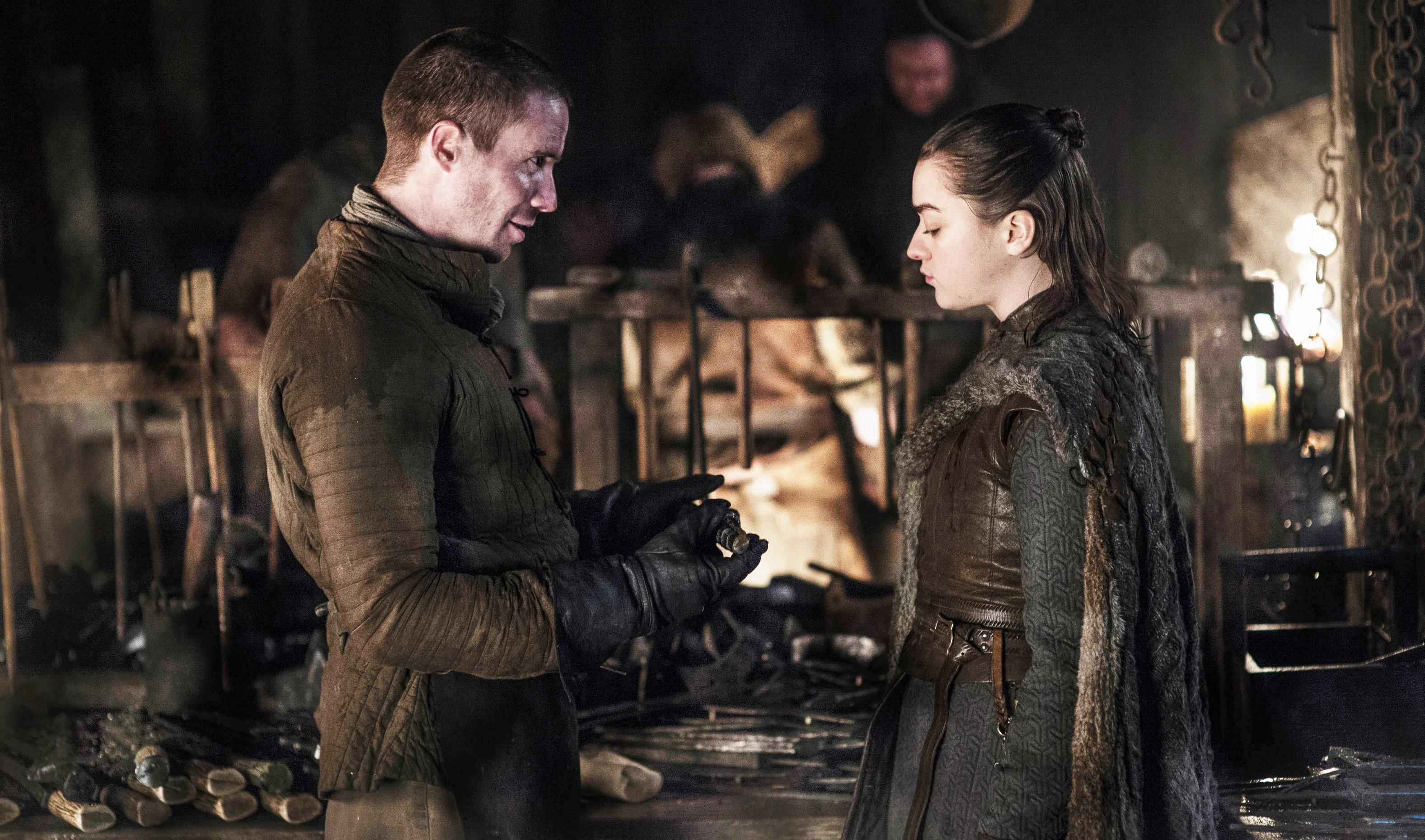 Gendry Arya Stark Season 8 801 Winterfell