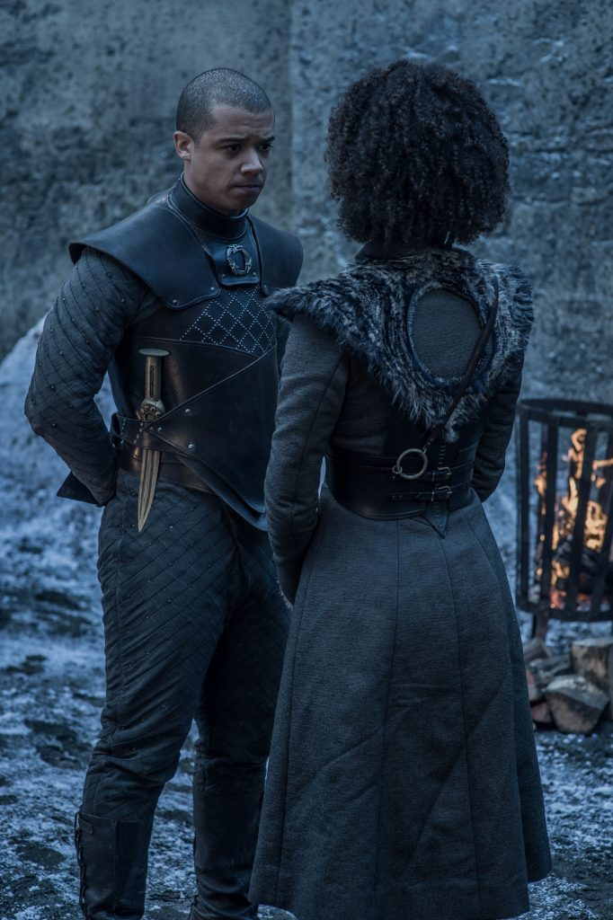 Missandei and Grey Worm Photo: Helen Sloan / HBO