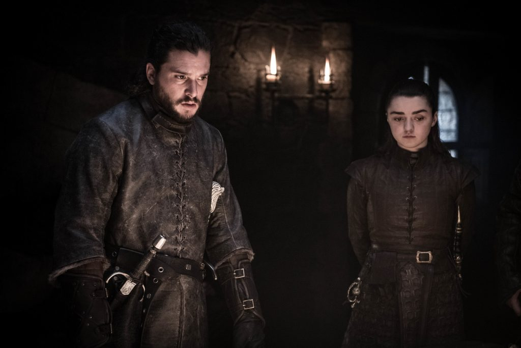 Harington and Maisie Williams as Arya Stark. Photo: Helen Sloan / HBO