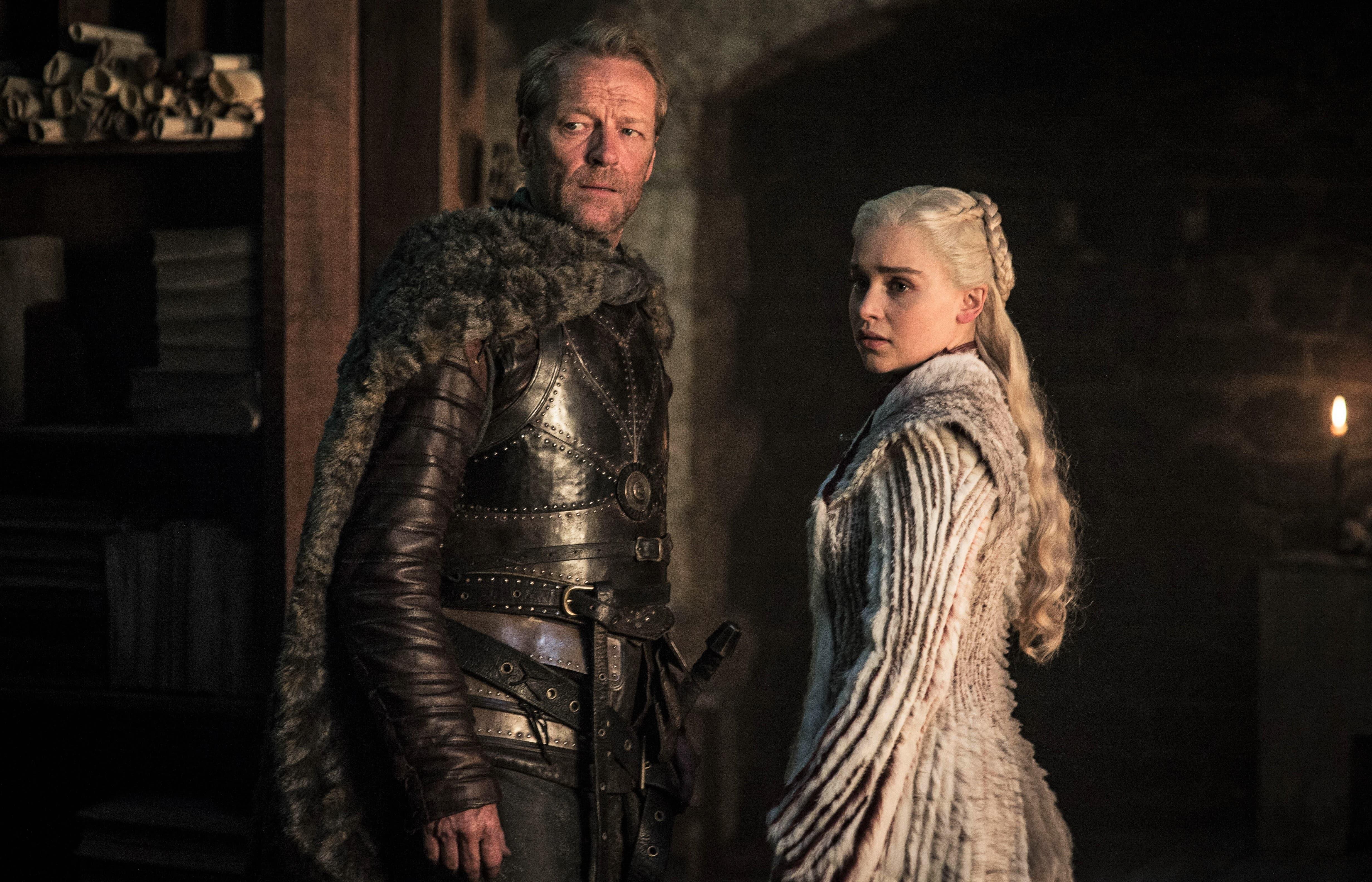 Jorah Mormont Daenerys Targaryen Winterfell Library Season 8