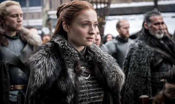 Sansa Stark (Sophie Turner), Brienne of Tarth (Gwendoline Christie). Photo: HBO, via Express.