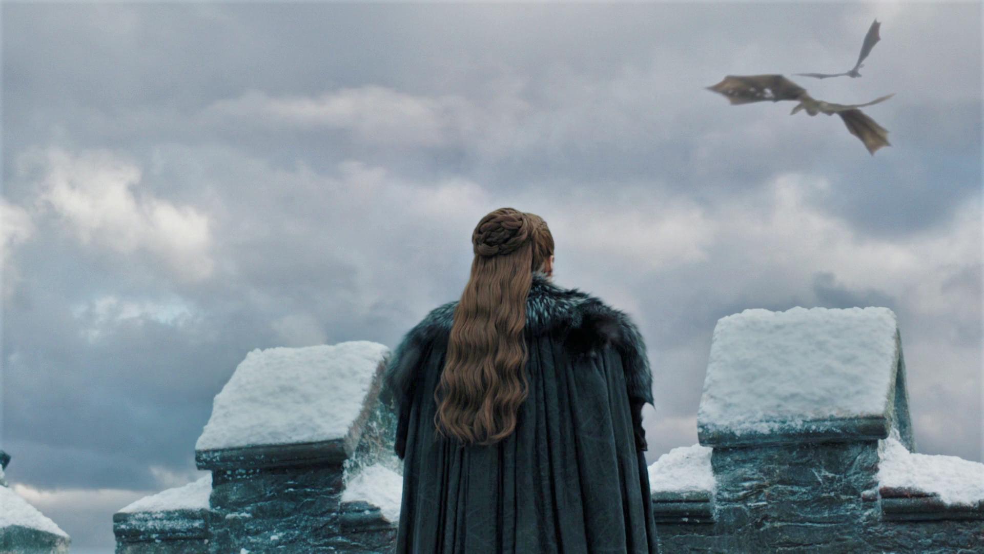 Sansa Stark Drogon Rhaegal Season 8 804