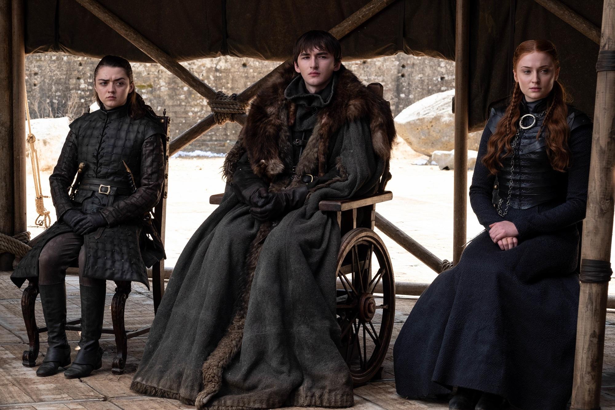 arya bran sansa stark the iron throne