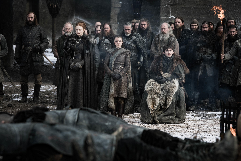Davos Sandor Sansa Arya Bran Stark Season 8 804
