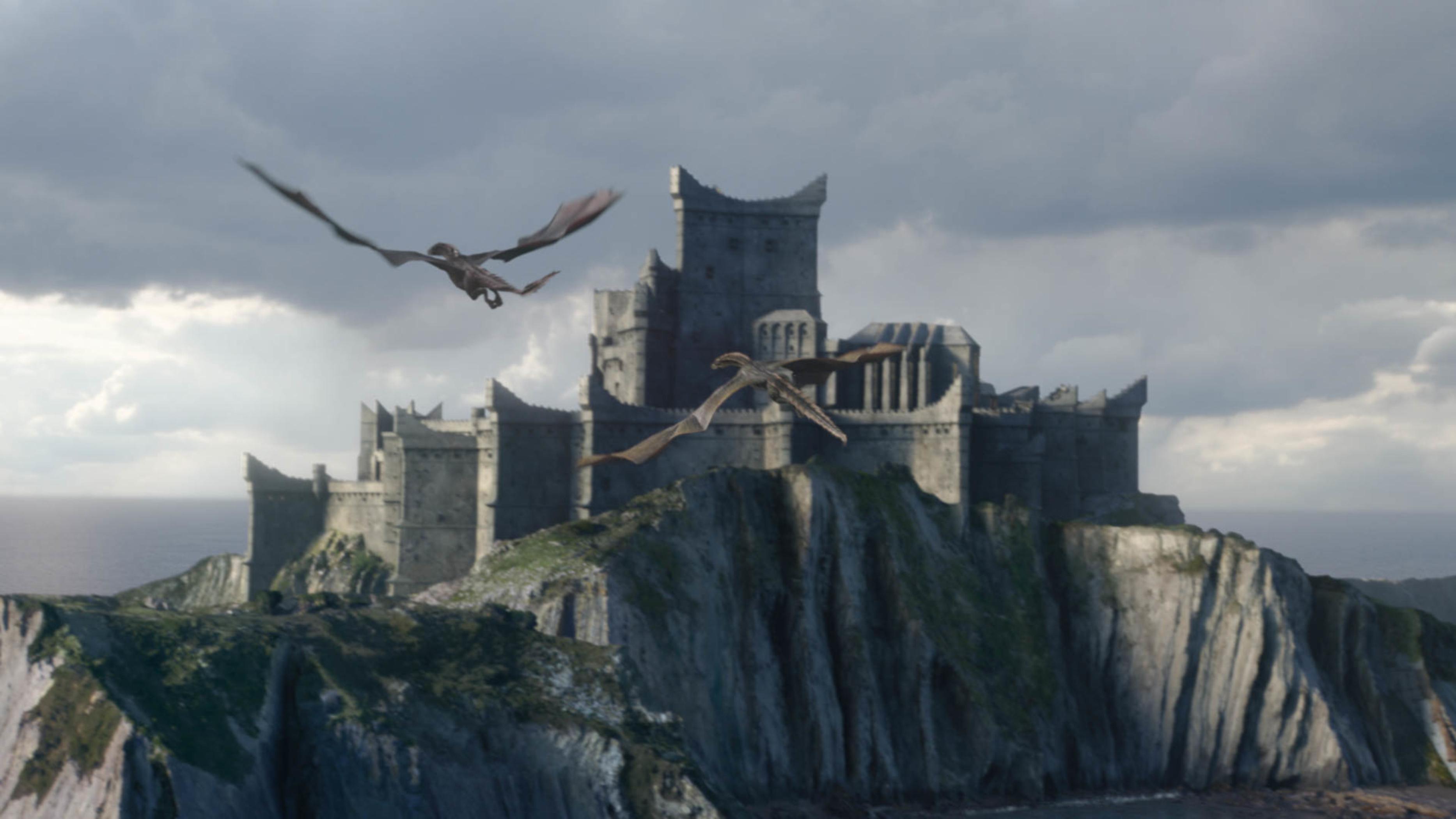 Dragonstone Rhaegal Viserion Season 8 804