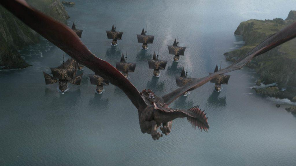Drogon Daenerys Targaryen Euron Fleet Dragonstone Season 8 804