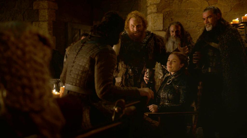 Sansa Stark Drinking Jon Snow Tormund Season 8 804