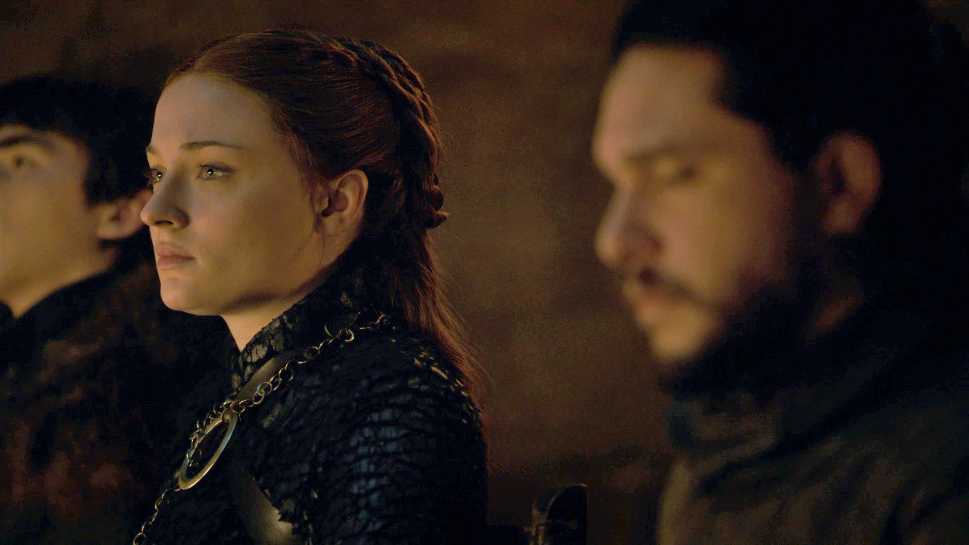 Sansa Stark Jon Snow Season 8 804