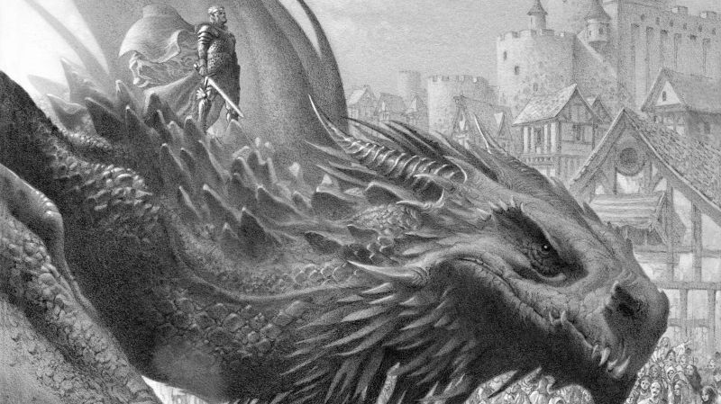 """Artwork by Doug Wheatley for the """"Fire and Blood"""" vol. I book."""