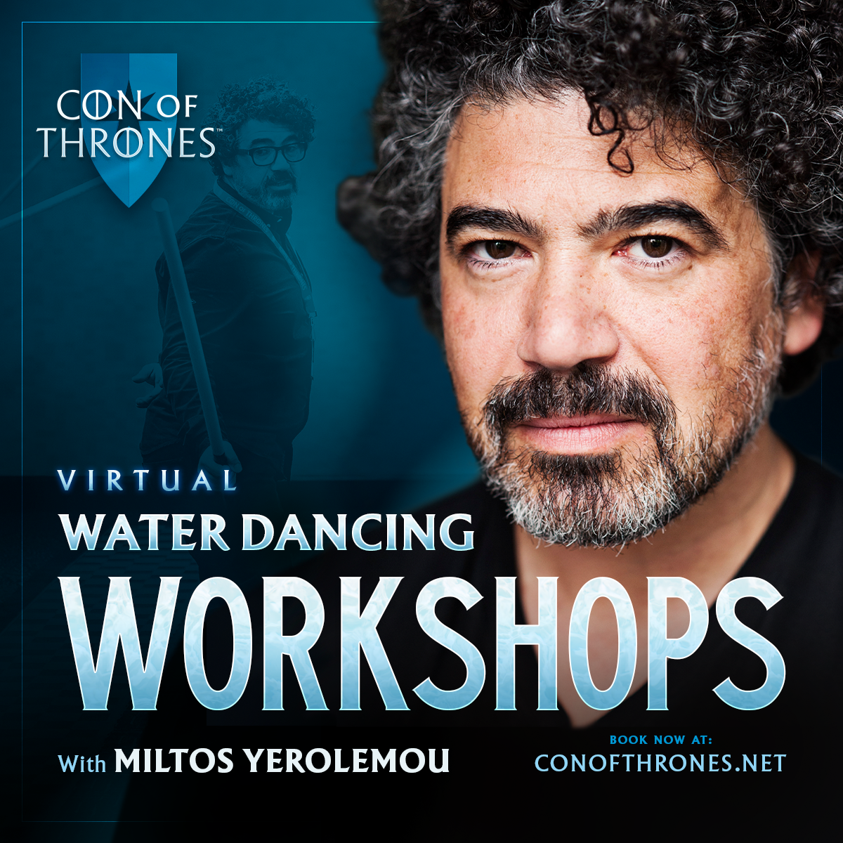 Learn the art of Water Dancing with Game of Thrones star Miltos Yerolemou!