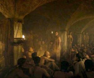 Season 4 scene, set in the cellars