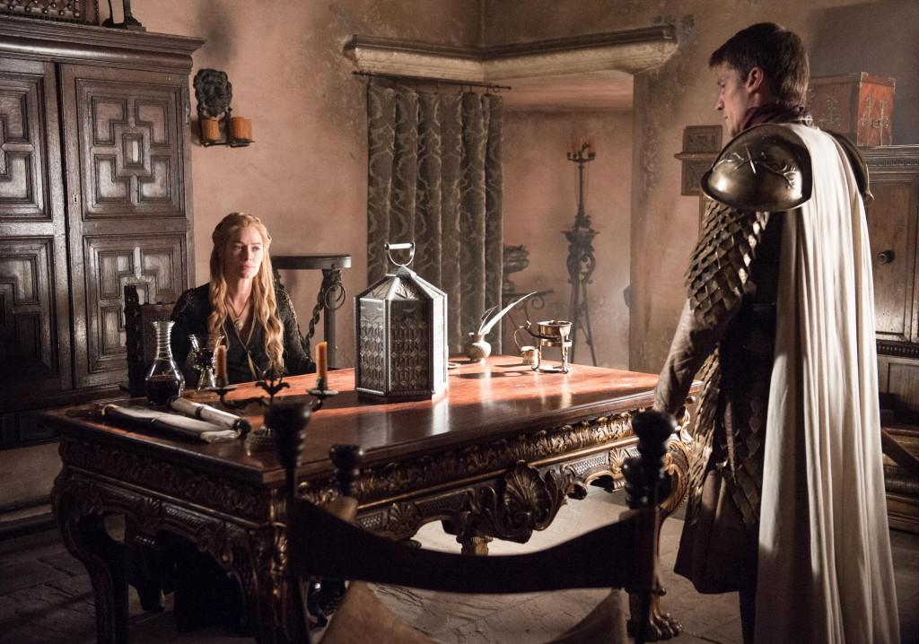 Lena Headey as Cersei Lannister and Nikolaj Coster-Waldau as Jaime Lannister_ photo Helen Sloan_HBO