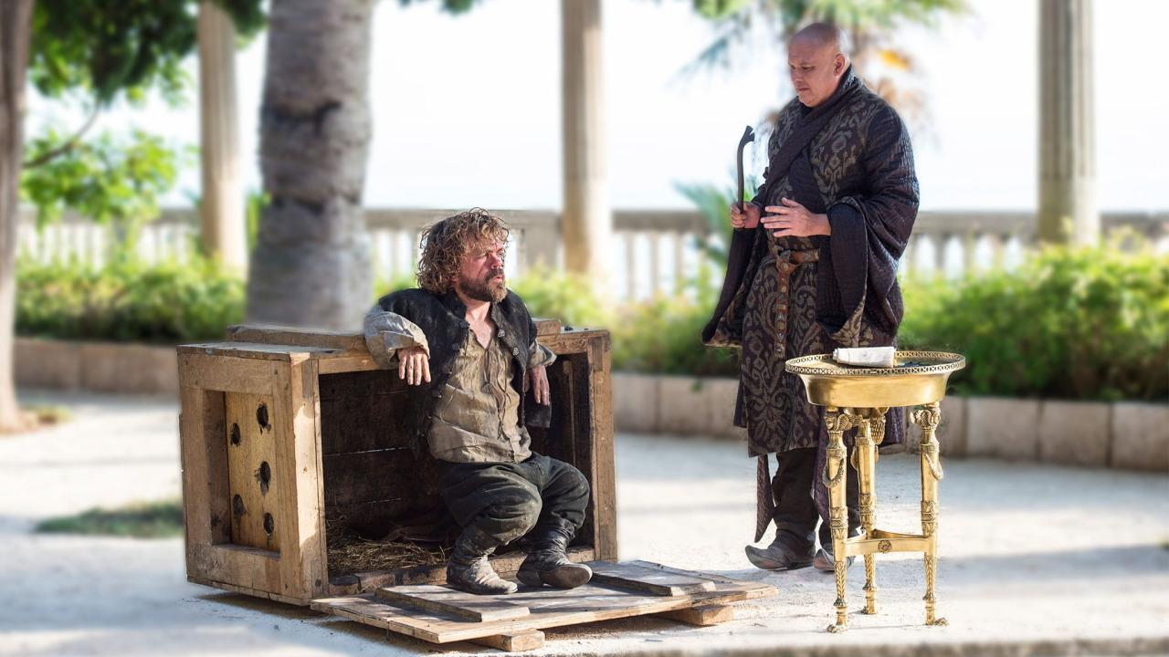 Varys and Tyrion contemplating the wars to come