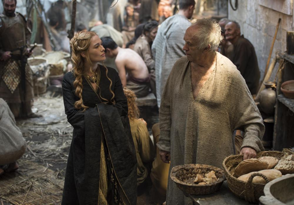 High Sparrow and Cersei