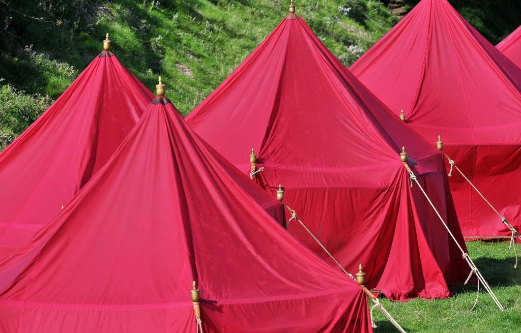 red tents