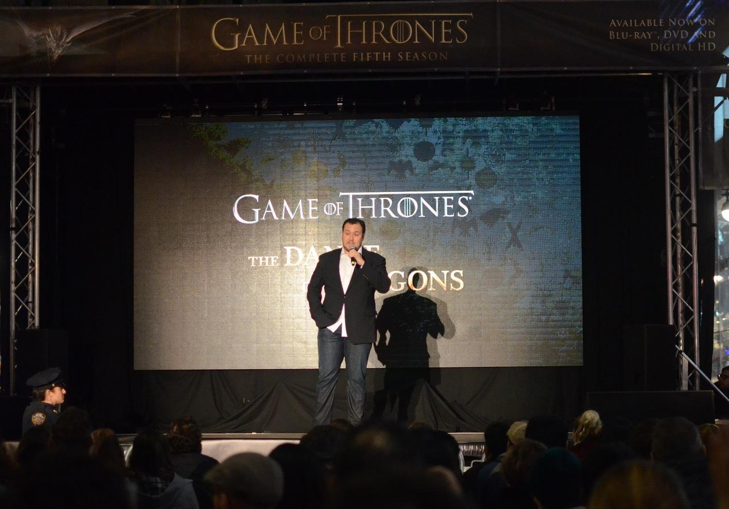 Game of Thrones writer Dave Hill. Photo: Jefferson Carberry