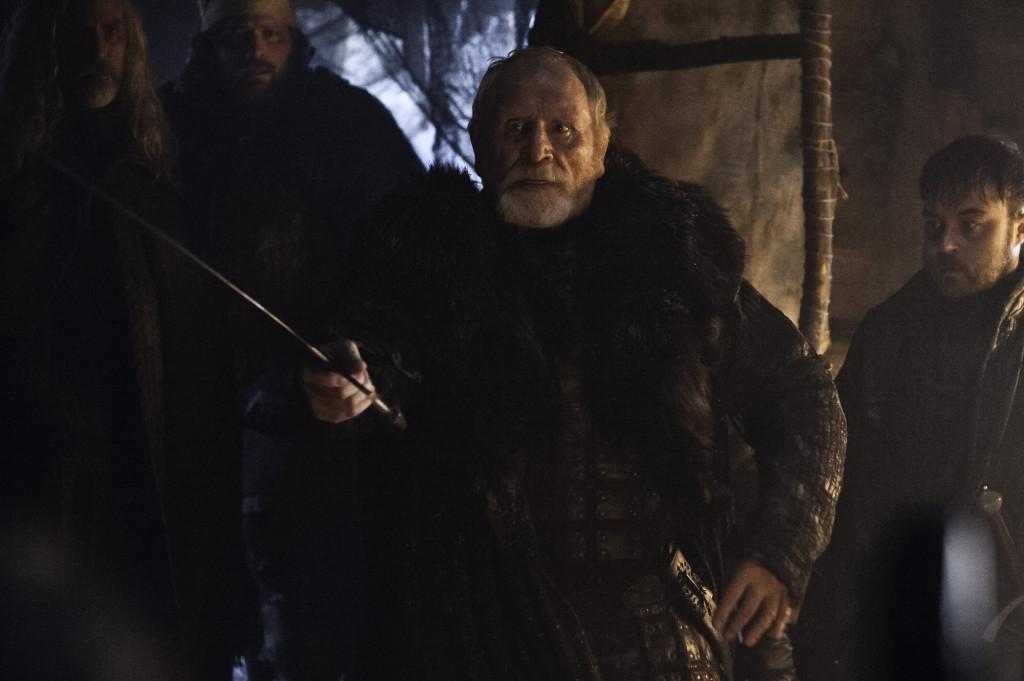 Lord Mormont before he dies