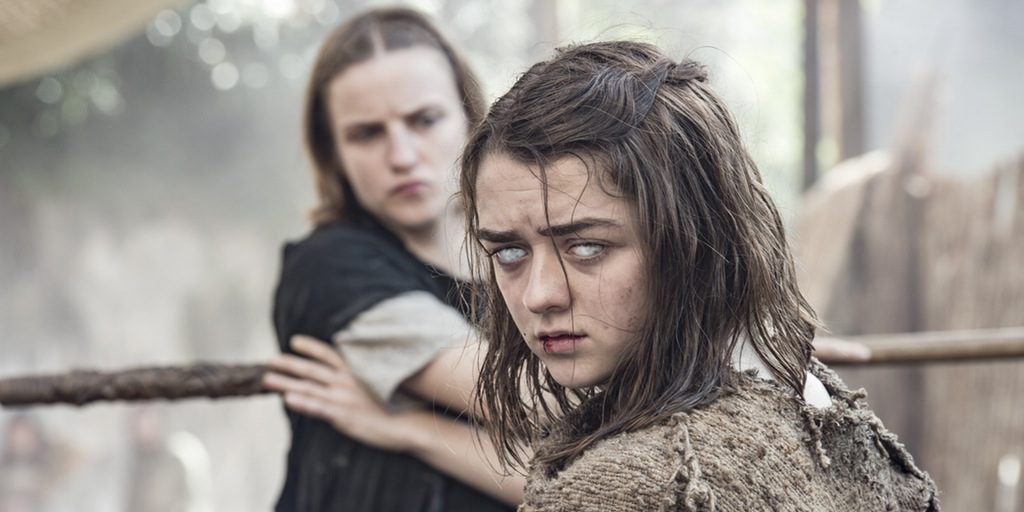 "Blind Arya and the Waif in ""The Red Woman"""