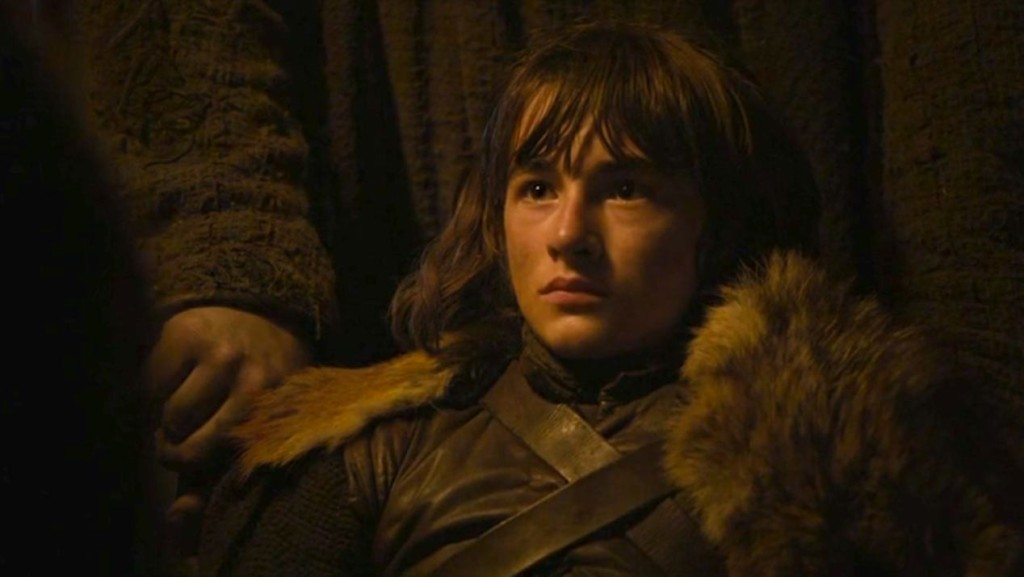 "Bran looking serious in ""Mhysa"""