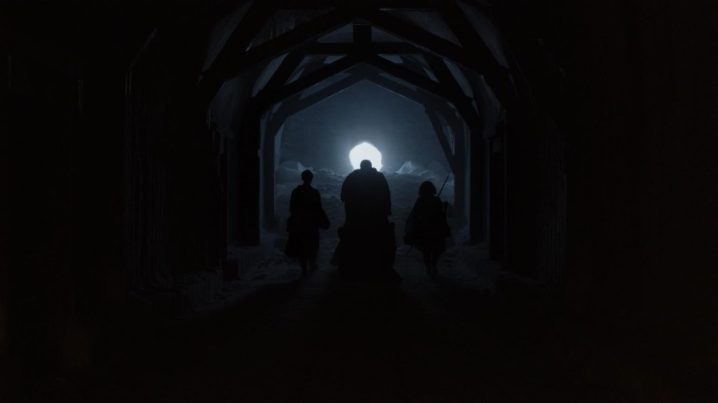 "The Night Fort's secret entrance in ""Mhysa"""