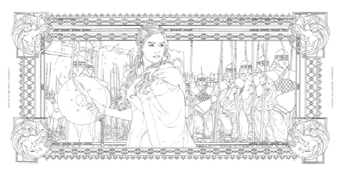 Official HBO Game Of Thrones Coloring Book Coming From