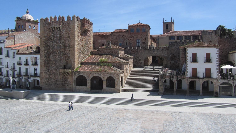 Plaza Mayor in Cáceres city, Cáceres