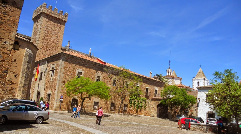 Plaza de las Veletas in Cáceres city, Cáceres
