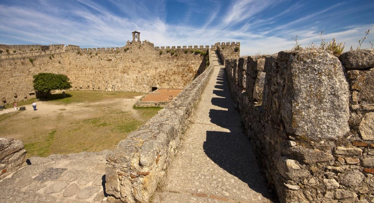 Courtyard at the Castillo de Trujillo, Cáceres