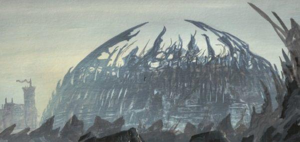 The Dragonpit of King's Landing depicted by Franz Miklis for Fantasy Flight Games