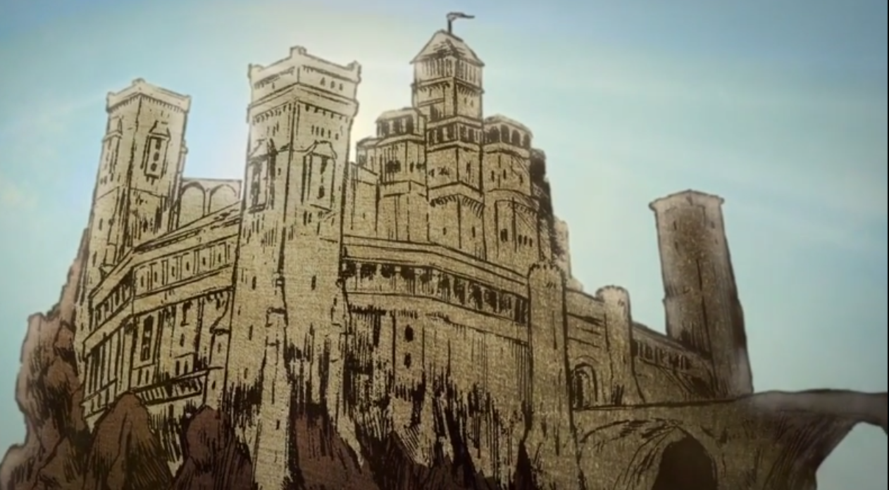 """Casterly Rock as depicted in the official """"Histories & Lore"""" Blu-Ray Extras"""