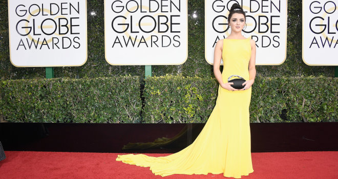 Maisie Williams at the Golden Globes