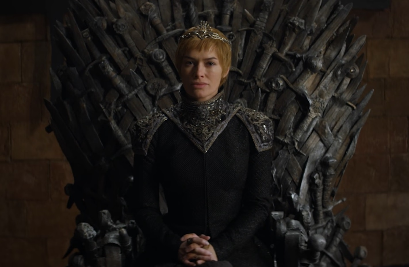 cersei iron throne long walk game of thrones teaser