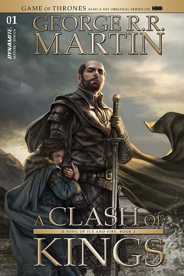 Stannis and Shireen A Clash of Kings comic artwork