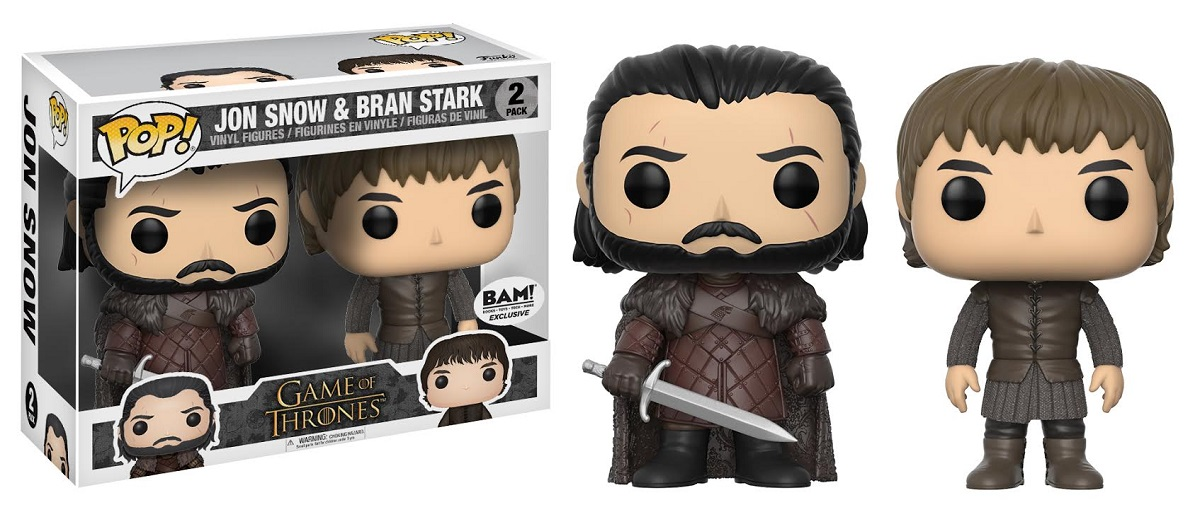Game of Thrones Funko Pop Jon Snow and Bran Stark 2 Pack