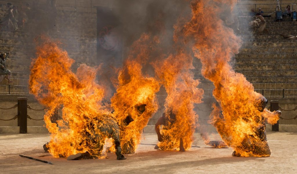 """Son of the Harpy stunt performers set on fire in """"The Dance of Dragons"""""""